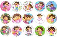 15 Dora Custom Edible Wafer Ricepaper Cupcake Cup Cake Decoration Image Toppers   eBay