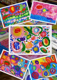 FORME E COLORI IN LIBERTA' Che bello ritrovare colori e pennelli ad aspettarci e poter così dipingere liberamente sui gran...