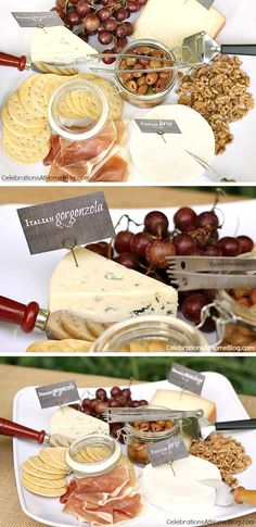 A great cheese plate paired with wine for ladies night.