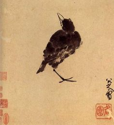 Japanese Watercolor  of a Crow or Raven.  Very simple but I like it none the less!