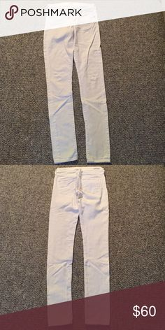 Citizens of Humanity white skinny jeans size 24 White skinny jeans barely worn size 24 citizens of humanity. There is a faint rust spot on the back right leg at the bottom Citizens of Humanity Jeans Skinny