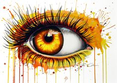 -Soul fire- Art Print by peegeearts Fire Eyes, Sun Prints, Eyes Artwork, Realistic Eye Drawing, Altered Canvas, Fire Art, Eye Painting, Colorful Drawings, Art Sketches