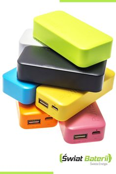 Nowe kolorowe banki energii Green Cell! Doładuj telefon w podróży! New colourful Green Cell powerbanks! Check them!  #colourful #rainbow #colors #powerbank #smartphone #journey #trip #technology #tech #greencell