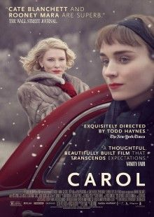 Follows two women from very different backgrounds who find themselves in an unexpected love affair in 1950s New York. As conventional norms of the time challenge their undeniable attraction, an honest story emerges to reveal the resilience of the heart in the face of change. A young woman in her 20s, Therese Belivet (Rooney Mara), is a clerk working in a Manhattan department store and dreaming of a more fulfilling life when she meets Carol (Cate Blanchett), an alluring woman trapped in a...