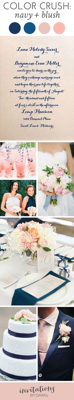 Color Crush: Navy & Blush Wedding Colors