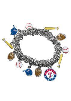 Texas Rangers Stretch Charm Bracelet http://www.rallyhouse.com/shop/texas-rangers-texas-rangers-stretch-charm-bracelet-1592241?utm_source=pinterest&utm_medium=social&utm_campaign=Pinterest-TexasRangers $29.99