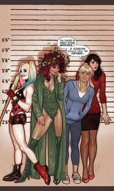 Betty and Veronica, meet Harley and Poison Ivy by Adam Hughes.Out next month! #Comics #DC #Archie #Gotham