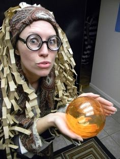 Put on some glasses and hold a crystal ball to be the Professor Trelawney of your party.