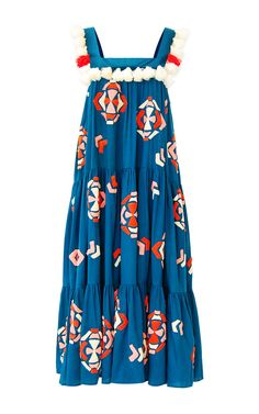 Tassa Embroidered Midi Tiered Dress by Mochi | Moda Operandi