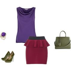 """Deep Summer - Violet/red inspiration"" by adriana-cizikova on Polyvore"