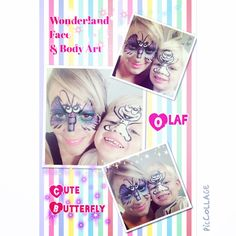 Butterfly and Olaf face paint