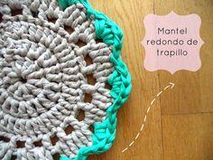 Mantel redondo de trapillo - Tutorial paso a paso Crochet kitchen