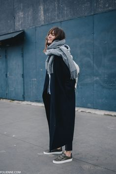 POLIENNE | wearing a Stella McCartney x Adidas hoodie, Boss Orange leather pants & Whistles sneakers
