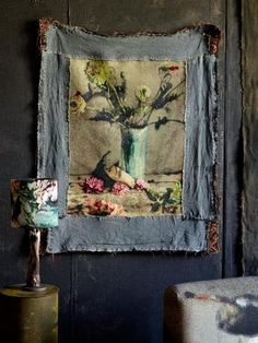 """Martyn Thompson, fashion and interiors photographer, has recently launched a collection of textiles and wallpaper dubbed """"Cezanne's Shadow"""", initially inspired by a visit to Cezanne's """"Vase with Tulips"""" . Website Design, Blog Design, Diy Design, Deco Addict, Deco Boheme, Fabric Art, Fabric Crafts, Denim Fabric, Wabi Sabi"""
