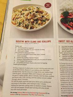 Bucatini w/ clams & scallops