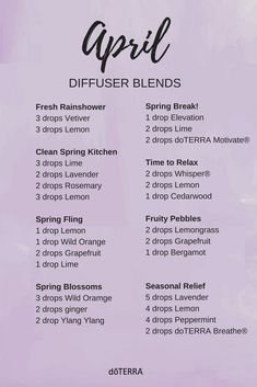 We know how much you love diffuser blends! Here to brighten your spring are these April diffuser blends!