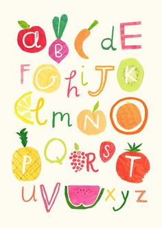 Hannah Tolson - Fruity & Veg Alphabet