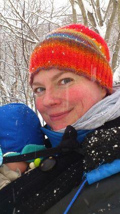 Meg og gullgutten på bæretur i snøværet