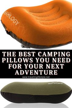 The Best Camping Pillows You Need For Your Next Adventure. Being outside can expose you to cold and wet conditions and staying warm is essential. Camping pillows are generally small and easier to dry, some are waterproof, or they come with waterproof bags. #campingpillows #campinggear #camping Camping Mattress, Camping Pillows, Camping Blanket, Best Travel Gadgets, Camping Gadgets, Camping Hacks, Backpacking Gear, Camping Gear, Outdoor Camping
