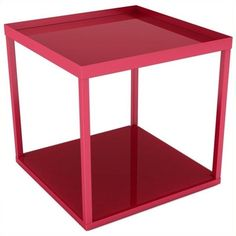 Dar Modular Side Table ($52) ❤ liked on Polyvore featuring home, furniture, tables, accent tables, red, top table, red table, colored furniture, stackable furniture and red furniture
