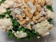 Δροσερή και θρεπτική σαλάτα του Καίσαρα!! συνταγή από Annita Rapata - Cookpad Corfu, Feta, Dairy, Cheese, Chicken, Buffalo Chicken, Cubs, Rooster