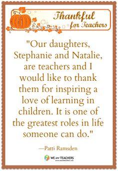 From a proud teacher mom :)