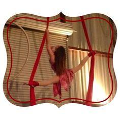 Over splits in the aerial silks