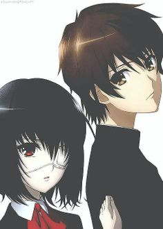 """Mei Misaki & Kouichi Sakakibara. So perfect! I thought at end when Mei said """"you know what would make us remember"""" she would kiss him but she didn't! Arrgh"""