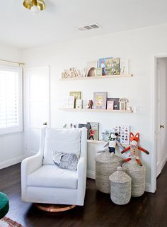 The perfect white paint // DIY shelves // sarah sherman samuel // #truetohue