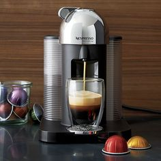The first combination maker from Nespresso brews either an 8-ounce coffee or a 1.4-ounce espresso with equal precision and performance using new centrifusion™ centrifugal heating element technology that brews gently and fully. Brewing your cup is as simple as ever with the signature capsule system, quick push-button delivery and adjustable cup holder.