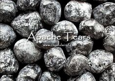 The Legend of the Apache Tear Apache Tears, Crystal Meanings, Stones And Crystals, Black, Black People