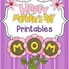 Celebrate Mothers Day with this keepsake book.  Students put together this 10 page book in honor of their mothers and present it as a gift.  You m...