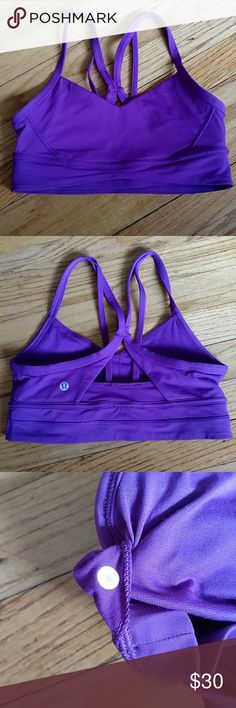 Lululemon Sports Bra NWOT. The photos make it look fully purple, but it is more of fuchsia and purple mix. This has basically just been sitting in a drawer, as it it just a little bit too small on me. Size 6. lululemon athletica Intimates & Sleepwear Bras