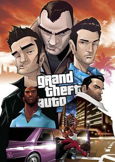 Amazing Grand Theft Auto Videogame Fan Art by Patrick Brown Chris Brown, Patrick Brown, Anime Rock, Saints Row Iv, Grand Theft Auto Series, Gta 5 Online, Hip Hop Art, Brown Art, Rockstar Games