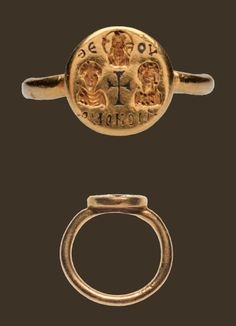 Gold marriage ring 7th century A.D.