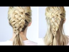 5 Strand Dutch Braid On Yourself | VIDEO I seriously love this girl! Her tutorials are the only reason I can do hair at all!