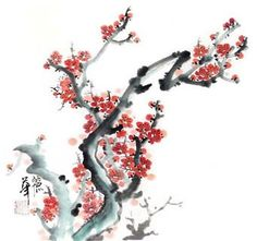Buy Chinese plum blossom paintings & scrolls from China. Save compared to your local store by good plum blossom painting artists. Japanese Art Modern, Japanese Painting, Artist Painting, Plum, Landscape, Chinese, Flowers, Pictures, Japanese Cherry Blossoms