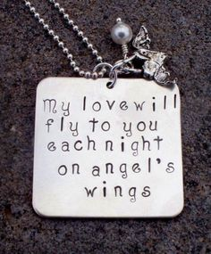 Memorial Pendant of Loved One Necklace by metalstampedmemories, $52.00