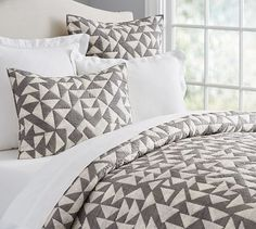 Triangle Print Quilt & Sham | Pottery Barn