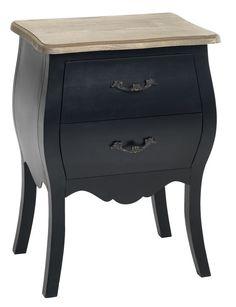 Yöpöytä DALL 2 laatikkoa musta/l.värinen | JYSK