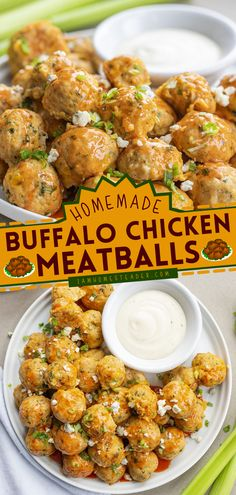 Buffalo Chicken Meatballs is an easy party food recipe with just the right amount of kick to wake up your tastebuds! This homemade party food appetizer is one of the best finger foods for a party. Save this pin! Finger Food Appetizers, Finger Foods, Appetizer Recipes, Chicken Milk, Chicken Wings, Ground Chicken Meatballs, Memorial Day Foods, Buffalo Wings, Ranch Dressing