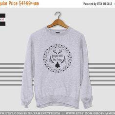Flat 15% OFF SALE Christmas Sweater Ugly Christmas sweater Sweatshirt Jingle bell sweater Jumper Unisex