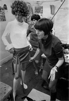Mary Quant - Mary Quant was influenced by Chelsea beatniks and dance outfits she remembered from childhood. Famed for popularising, if not inventing, the mini skirt, her clothes were made up of simple shapes combined with strong colours.