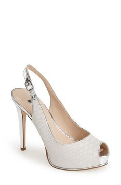 c6f9b2293e7 GUESS  Huela  Peeptoe Slingback Pump (Women) available at  Nordstrom  Women s Pumps