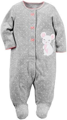 fe40c6731 Baby Girl Newborn 0 3 Months Sleeper Pajama One Piece Swaddle 6 ...