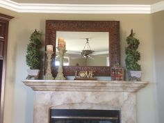Fireplace mantle decor