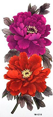 Amazon.com: YiMei Waterproof temporary tattoos peony wealth and good fortune woman: Health & Personal Care
