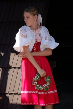 Podpoľanie, Slovakia Folk Costume, Costumes, Folk Style, Folk Embroidery, Folk Fashion, Anton, Folklore, Traditional Outfits, Europe