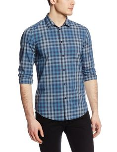 Calvin Klein Jeans Men's Tonal Blue Small Check Woven Shirt, Faded Navy, Medium Calvin Klein Jeans,http://www.amazon.com/dp/B00FS3UXSS/ref=cm_sw_r_pi_dp_Tp7Atb1T7XS81MPJ