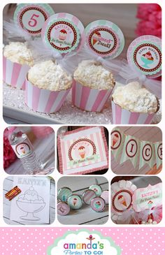 Ice Cream Party Printables by AmandasPartiesToGo on Etsy